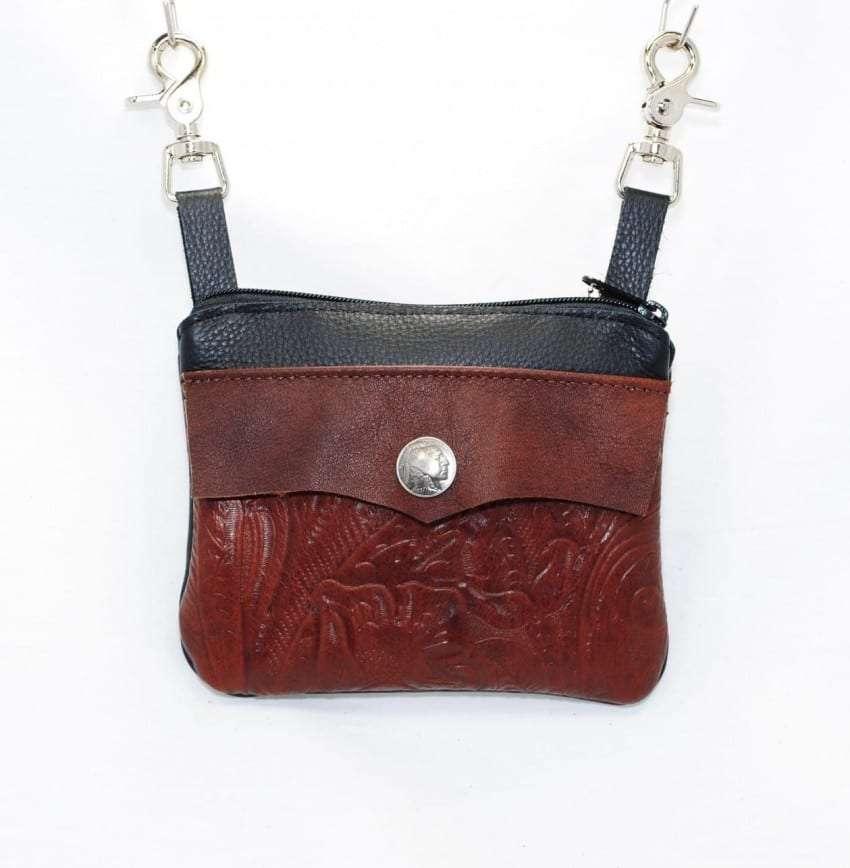 mahogany tooled pocket
